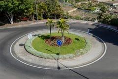 Immagine di immagine della foto di una rotonda sui precedenti della rotonda della via immagini stock libere da diritti