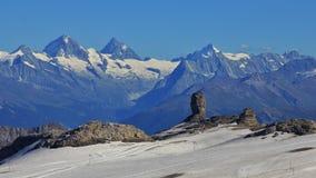 Immagine di estate del DES Diablerets del ghiacciaio Immagini Stock Libere da Diritti