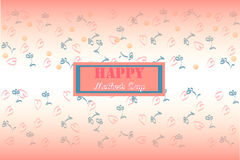 Immagine di festa di vettore della cartolina d'auguri di festa della mamma Immagini Stock