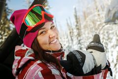 immagine di giovane snowboarder Fotografia Stock Libera da Diritti