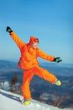 immagine di giovane snowboarder Immagini Stock Libere da Diritti