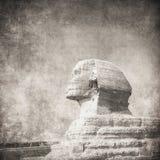 Immagine di Grunge di sphynx e della piramide immagine stock libera da diritti