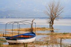 Immagine di HDR del lago Dojran Fotografia Stock Libera da Diritti