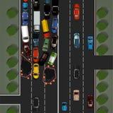 Immagine di incidente stradale Immagine Stock Libera da Diritti