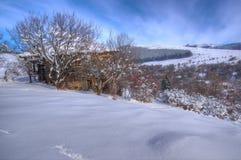 Immagine di inverno dalla Bulgaria Fotografie Stock Libere da Diritti