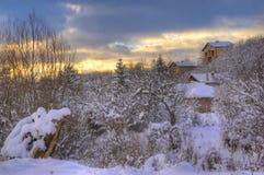 Immagine di inverno dalla Bulgaria Fotografia Stock Libera da Diritti