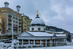Immagine di inverno del padiglione trasversale della primavera fotografia stock libera da diritti