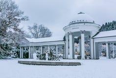 Immagine di inverno di Rudolph Spring Pavilion immagine stock