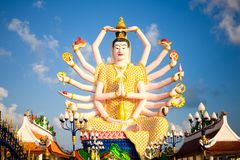 Immagine di Kuan Yin di Buddha Tailandia Fotografie Stock Libere da Diritti
