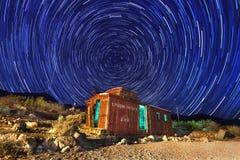 Immagine di lasso di tempo delle stelle di notte fotografie stock libere da diritti