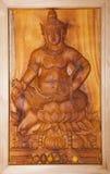 Immagine di legno scolpita del krishna di signore Fotografia Stock