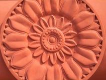 Immagine di loto dalla pietra della sabbia Immagini Stock