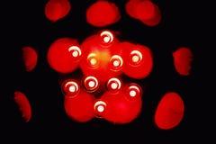 Immagine di luce rossa di Abstact punti e forme immagini stock libere da diritti