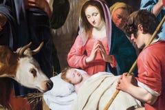Immagine di Maria con il bambino immagine stock libera da diritti
