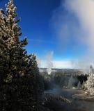 Immagine di orario invernale nel parco nazionale di Yellowstone Fotografie Stock