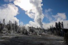 Immagine di orario invernale nel parco nazionale di Yellowstone Fotografie Stock Libere da Diritti