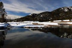 Immagine di orario invernale nel parco nazionale di Yellowstone Immagini Stock