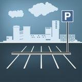 Immagine di parcheggio della città royalty illustrazione gratis