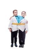 Immagine di piccola finzione gemellata dei ragazzi siamese Fotografia Stock Libera da Diritti