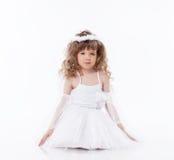 Immagine di piccolo angelo sveglio su bianco Immagini Stock Libere da Diritti