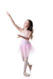 Immagine di piccolo dancing adorabile della ballerina immagine stock libera da diritti
