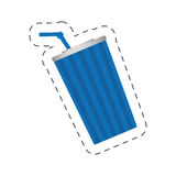 immagine di plastica di film del cinema della soda della tazza Immagine Stock Libera da Diritti