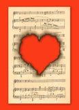 Immagine di priorità bassa con le note musicali. Fotografie Stock Libere da Diritti