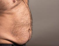 Immagine di profilo dell'uomo obeso Immagine Stock