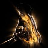 Immagine di ricerca della radiografia delle ossa della donna Fotografia Stock Libera da Diritti