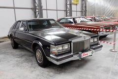 Immagine di riserva automobilistica d'annata di Cadillac Siviglia immagini stock