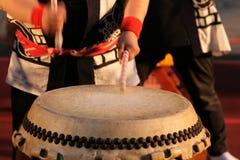 Immagine di riserva del giapponese Taiko Drum fotografie stock libere da diritti
