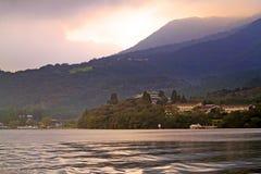 Immagine di riserva del lago Hakone, Giappone Fotografie Stock