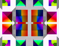 Immagine di riserva della geometria di frattalo Fotografia Stock