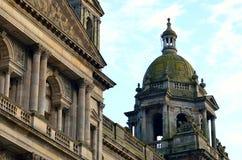 Immagine di riserva delle camere della città in George Square, Glasgow, Scozia Immagini Stock