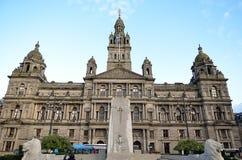 Immagine di riserva delle camere della città in George Square, Glasgow, Scozia Immagine Stock Libera da Diritti