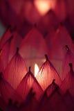 Immagine di riserva delle candele con un fondo molle Immagini Stock
