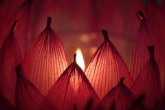 Immagine di riserva delle candele con un fondo molle Immagine Stock