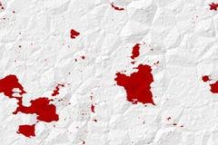 Immagine di riserva di documento sanguinante Crumped Immagini Stock
