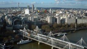 Immagine di riserva di paesaggio urbano di Londra al crepuscolo - Immagine Stock Libera da Diritti