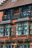 Immagine di riserva di vecchia architettura a Nottingham, Inghilterra fotografie stock libere da diritti