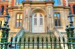 Immagine di riserva di vecchia architettura a Nottingham, Inghilterra fotografia stock