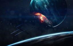 Immagine di romanzo di scienze spaziali Elementi di questa immagine ammobiliati dalla NASA immagini stock