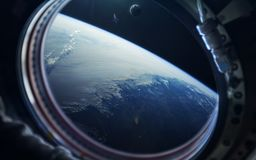 Immagine di romanzo di scienze spaziali Elementi di questa immagine ammobiliati dalla NASA immagine stock