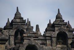Immagine di seduta del Buddha in tempio di Borobudur, Jogjakarta, Indonesia fotografia stock libera da diritti