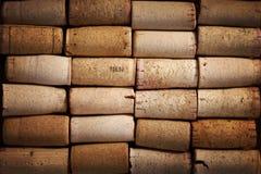 Immagine di sfondo dei sugheri differenti del vino Fotografia Stock Libera da Diritti
