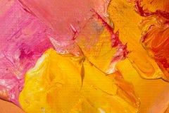 Immagine di sfondo del primo piano luminoso della tavolozza della petrolio-pittura Fondo illustrazione di stock