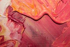 Immagine di sfondo del primo piano luminoso della tavolozza della petrolio-pittura Fondo illustrazione vettoriale