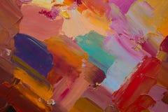 Immagine di sfondo del primo piano luminoso della tavolozza della petrolio-pittura Fondo royalty illustrazione gratis