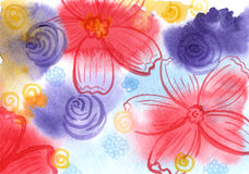 Immagine di sfondo floreale Immagine Stock Libera da Diritti