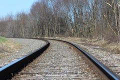 Immagine di sfondo di fotografia della strada di ferrovia fotografie stock libere da diritti